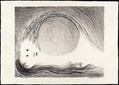 An image of St Francis lying down in the wilderness by Arthur Boyd