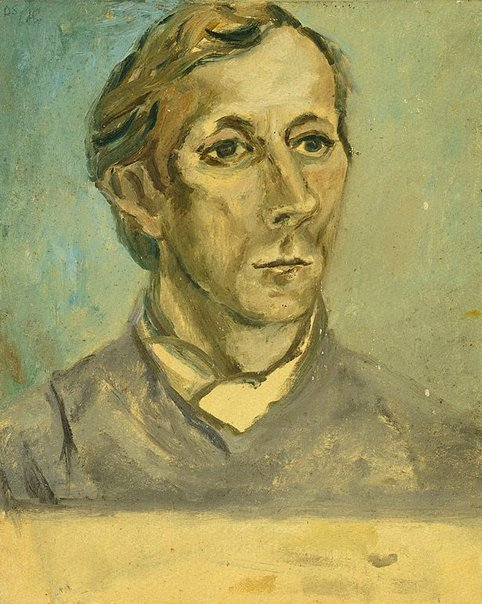 An image of Study for 'Portrait of Kenneth Rowell' by David Strachan
