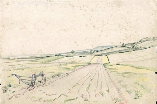 An image of Blue plough by Frank Medworth