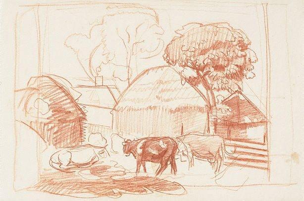 An image of Farmyard, south England