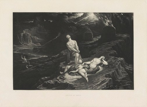 An image of Death of Abel by John Martin