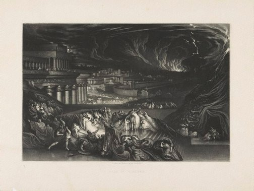 An image of Fall of Nineveh by John Martin