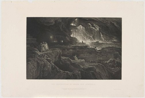 An image of The destruction of Sodom and Gomorrah by John Martin