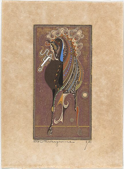An image of (Decorated horse) by NAKAYAMA Tadashi