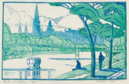 An image of Banks of the Yarra by Eveline Syme