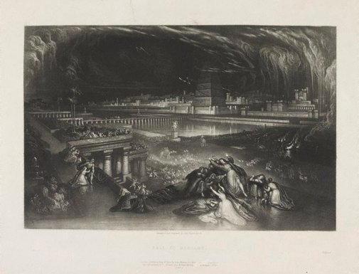 An image of Fall of Babylon by John Martin