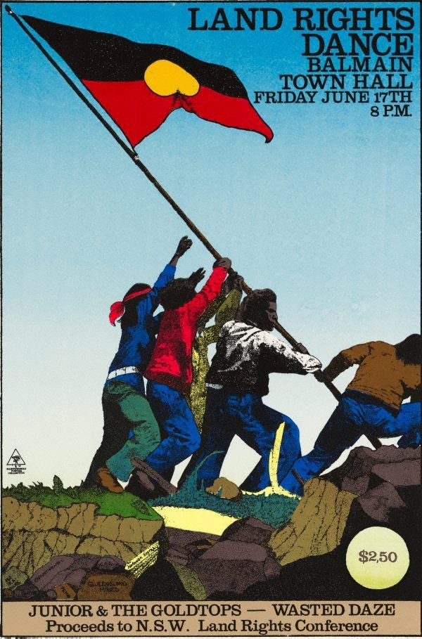 Land rights dance, (1977) by Chips Mackinolty, Earthworks Poster Collective