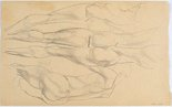 Alternate image of recto: Studies of female arms, torso verso: Studies of male nude from rear by Eric Wilson