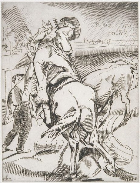 An image of (Bullfighting No. 1) by Frank Medworth