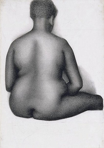 An image of Seated female nude, back view, London by Eric Wilson