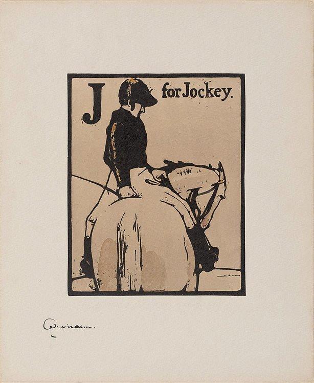 An image of J for Jockey