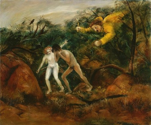 An image of The expulsion by Arthur Boyd