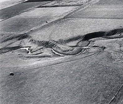 An image of Aerial view of the landscape near Lemington Colliery