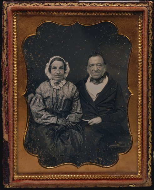 An image of Untitled (old couple) by Unknown photographer