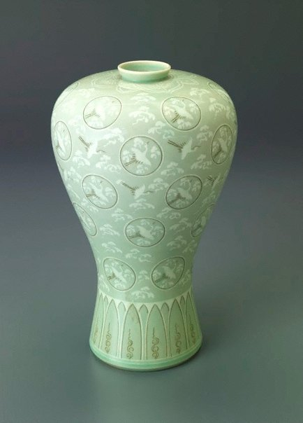An image of Meiping vase in Korean style by