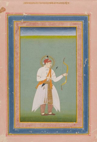 AGNSW collection Maharaja with bow and arrow 18th century