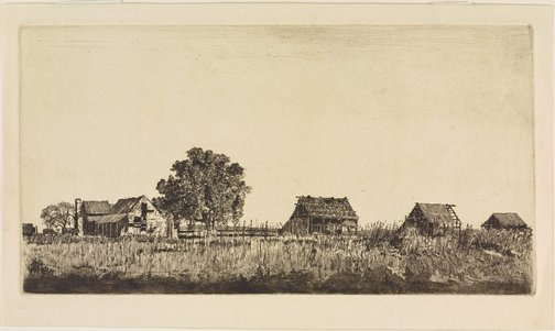 An image of The three barns, Windsor by Sydney Ure Smith