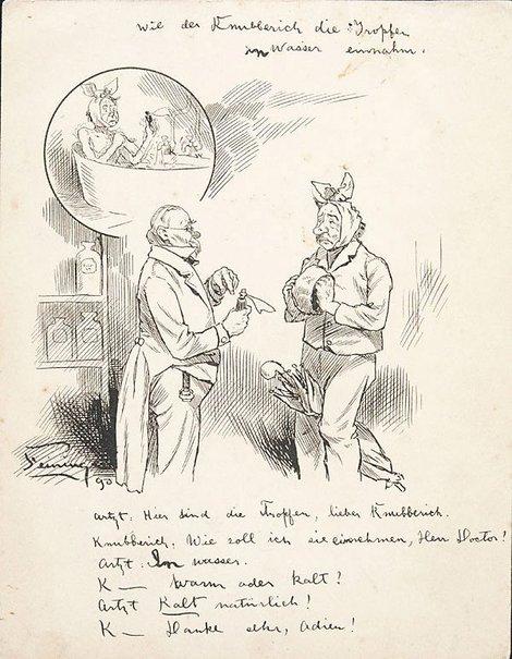 An image of Wie der Knibberich die tropfen in wasser Einnahm by Lyonel Feininger