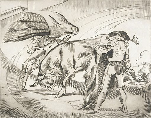 An image of The cape – Bullfighting no 2