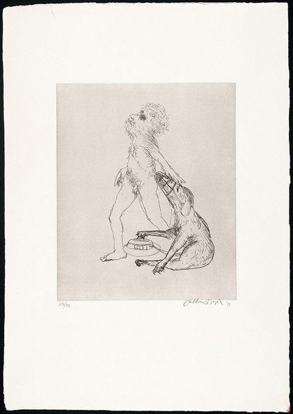 An image of (Illustration for Peter Stark's poem 'Colour blind') by Arthur Boyd