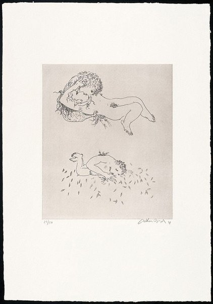 An image of (Illustration for Peter Stark's poem 'Tomorrow's ghosts') by Arthur Boyd