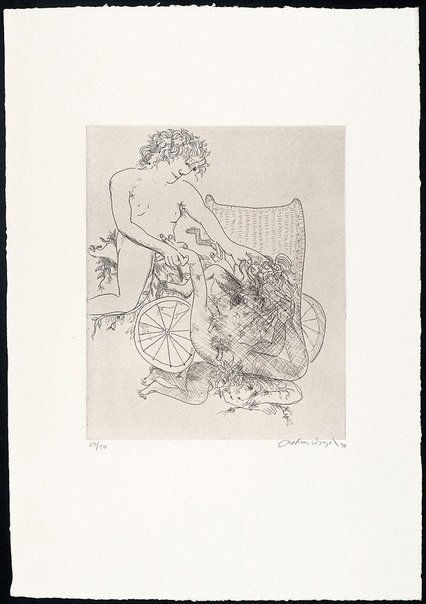 An image of (Illustration to Peter Stark's poem 'The monster') by Arthur Boyd