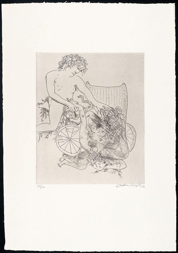 An image of (Illustration to Peter Stark's poem 'The monster')