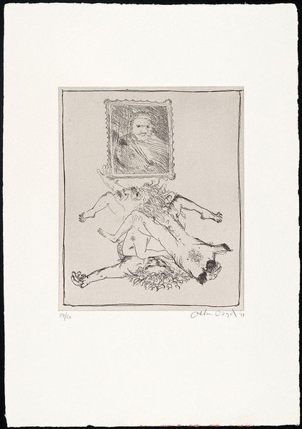 An image of (Illustration for Peter Stark's poem 'Ancestors') by Arthur Boyd