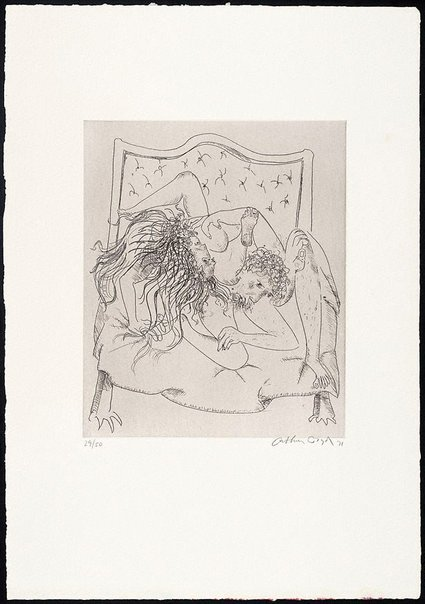 An image of (Illustration for Peter Stark's poem 'Sunset') by Arthur Boyd
