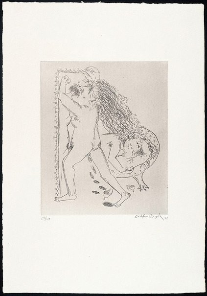 An image of (Illustration for Peter Stark's poem 'Madwoman') by Arthur Boyd