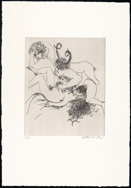 An image of (Illustration for Peter Stark's poem 'Dream of an intelligent woman') by Arthur Boyd