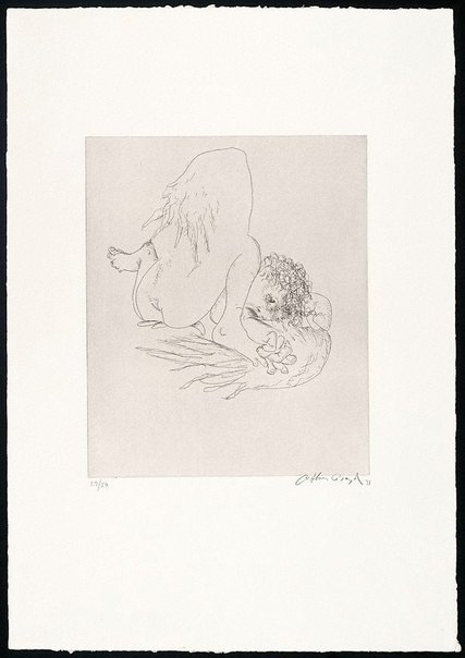 An image of (Illustration for Peter Stark's poem 'Icarus falling') by Arthur Boyd