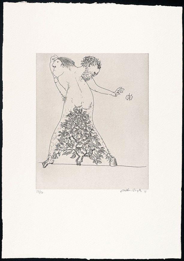 An image of (Illustration to Peter Stark's poem 'The survivor')