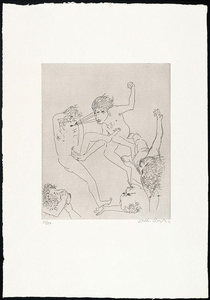 An image of (Illustration to Peter Stark's poem '18th century story') by Arthur Boyd
