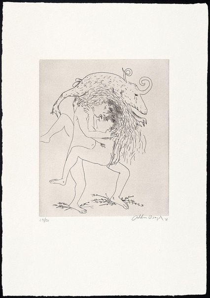 An image of (Illustration to Peter Stark's poem 'Repudiation') by Arthur Boyd