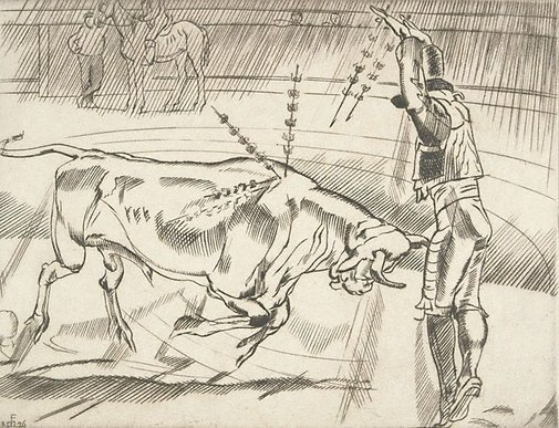 An image of (Bullfighting No. 3) by Frank Medworth