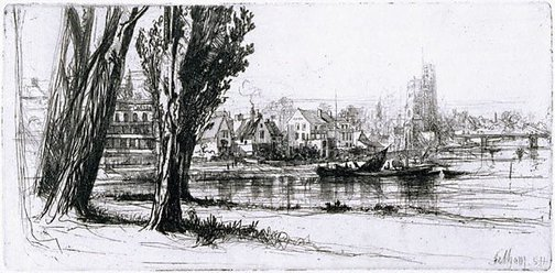 An image of Fulham by Sir Francis Seymour Haden