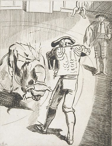 An image of (Bullfighting No. 4) by Frank Medworth