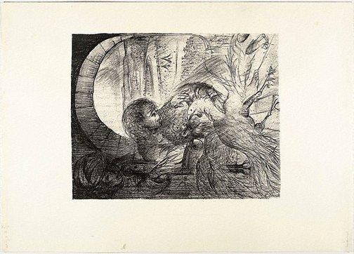 An image of (Illustration for Pushkin's Fairy Tales, p.15) by Arthur Boyd
