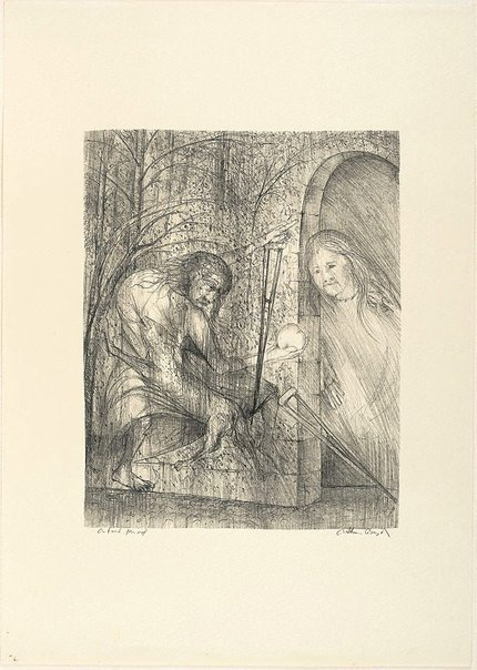 An image of (Illustration for Pushkin's Fairy Tales, p.67) by Arthur Boyd