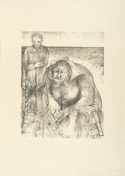 An image of (Illustration for Pushkin's Fairy Tales p.95) by Arthur Boyd
