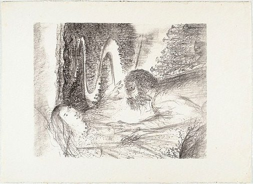 An image of (Illustration for Pushkin's Fairy Tales, p.21) by Arthur Boyd