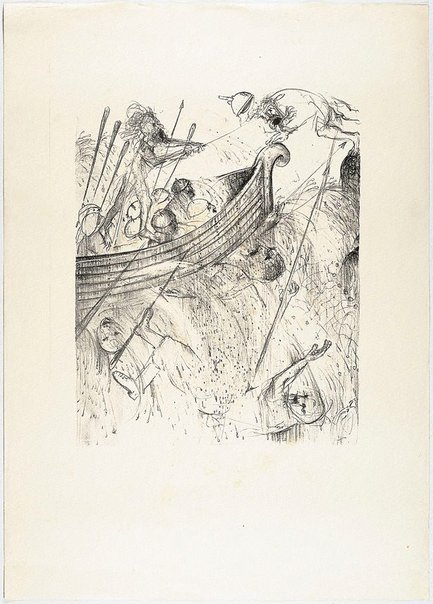 An image of (Illustration for Pushkin's Fairy Tales, p.29) by Arthur Boyd