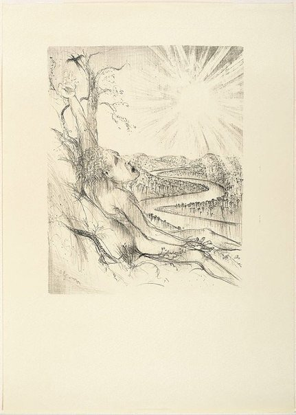 An image of (Illustration for Pushkin's Fairy Tales, p.73) by Arthur Boyd