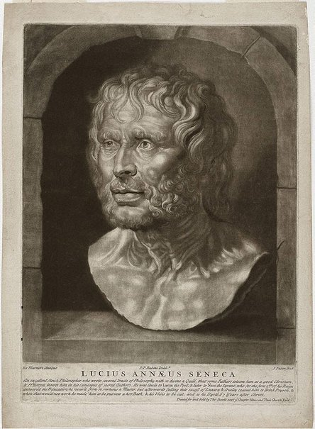 An image of Bust of Seneca by John Faber the Younger, after Sir Peter Paul Rubens