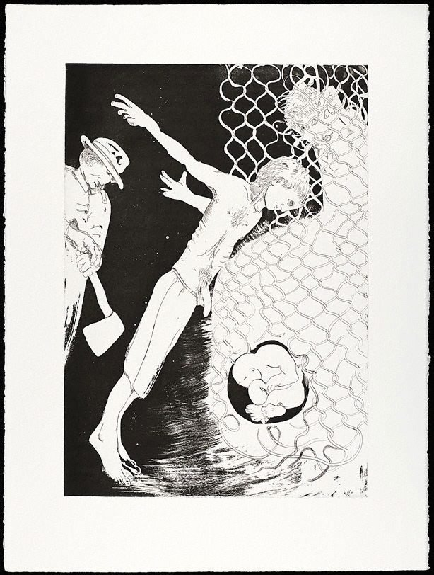 An image of (Illustration for Peter Porter's poem 'The Narcissus file')