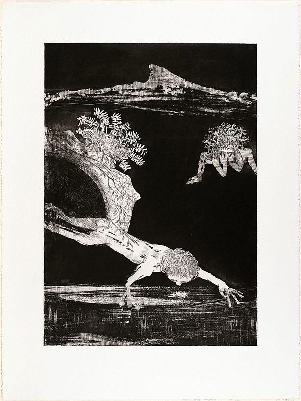 An image of (Illustration for Peter Porter's poem 'From the autobiography of Narcissus')