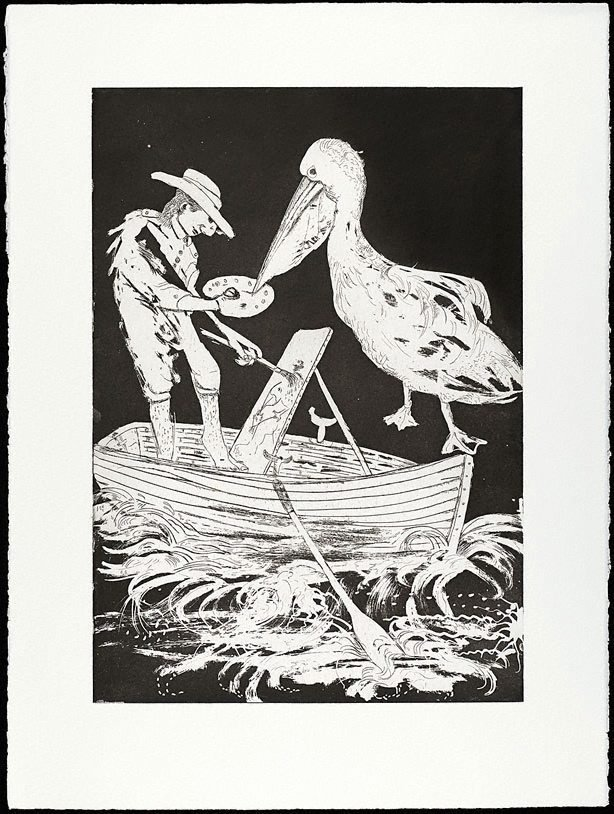 An image of (Illustration B for Peter Porter's poem 'From the autobiography of Narcissus')