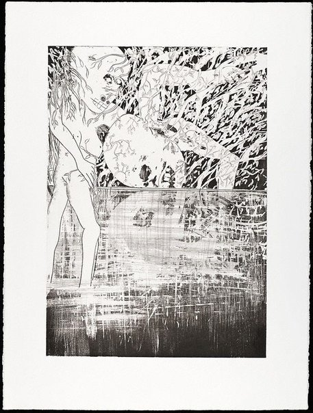 An image of (Illustration (a) for Peter Porter's poem 'At the palace') by Arthur Boyd
