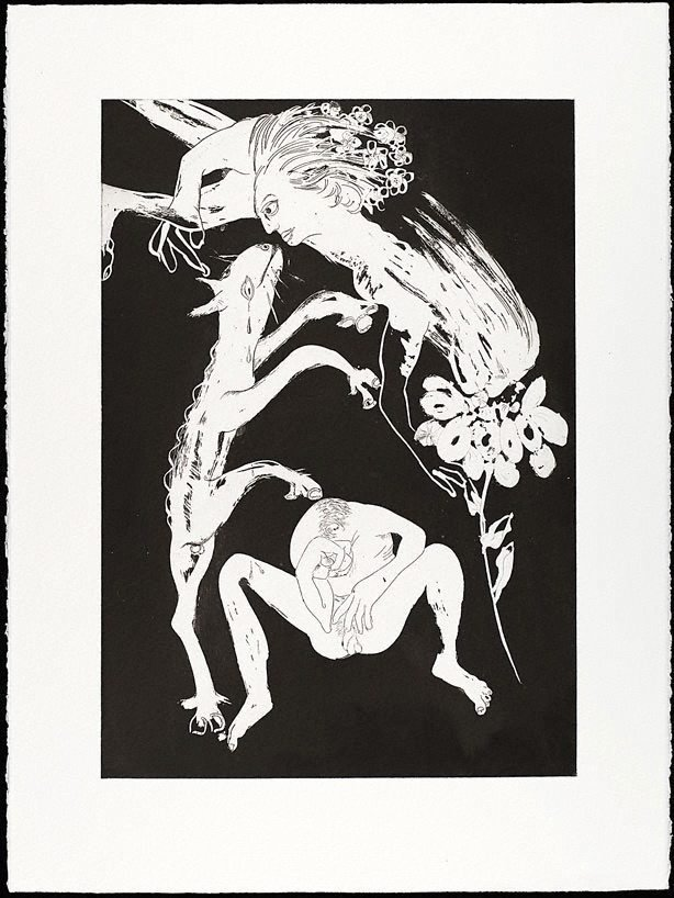 An image of (Illustration for Peter Porter's poem 'Narcissus as critic')